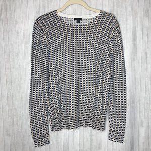 ANN TAYLOR | Dot Cotton Sweater | Size L